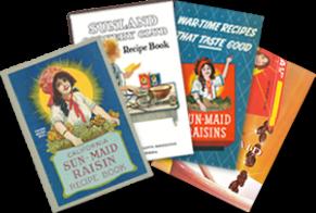 Old Sun-Maid Raisin recipe books